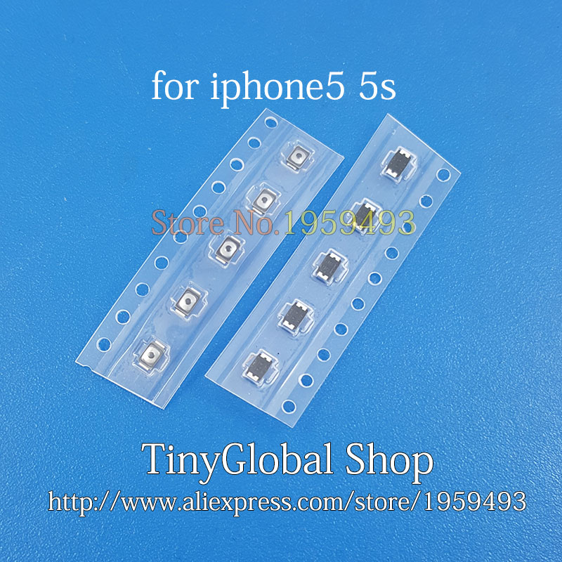 50pcs/lot 100% Power Button Switch Top Inner vol key ON OFF Contact Button replacement for iPhone 5 (5G) 5s