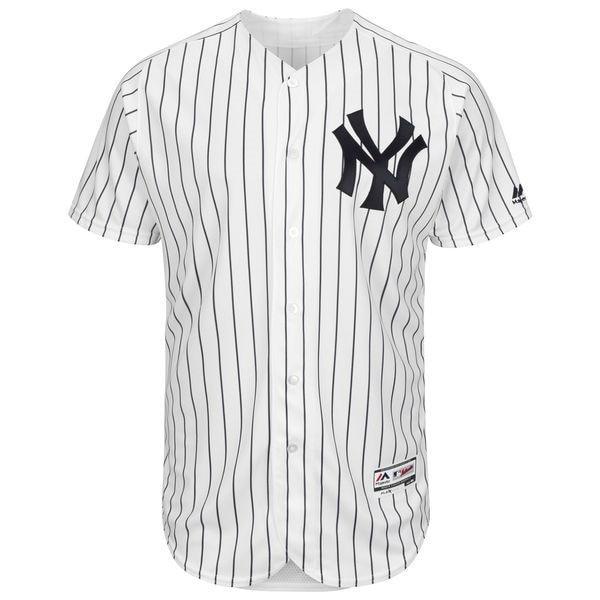 MLB Mens New York Yankees Brett Gardner Baseball Home White/Navy Flex Base Authentic Collection Player Jersey