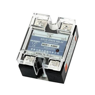 AC to AC Clear Cover Single Phase Solid State Relay 70-280V 24-480V 60A normally open single phase solid state relay ssr mgr 1 d48120 120a control dc ac 24 480v
