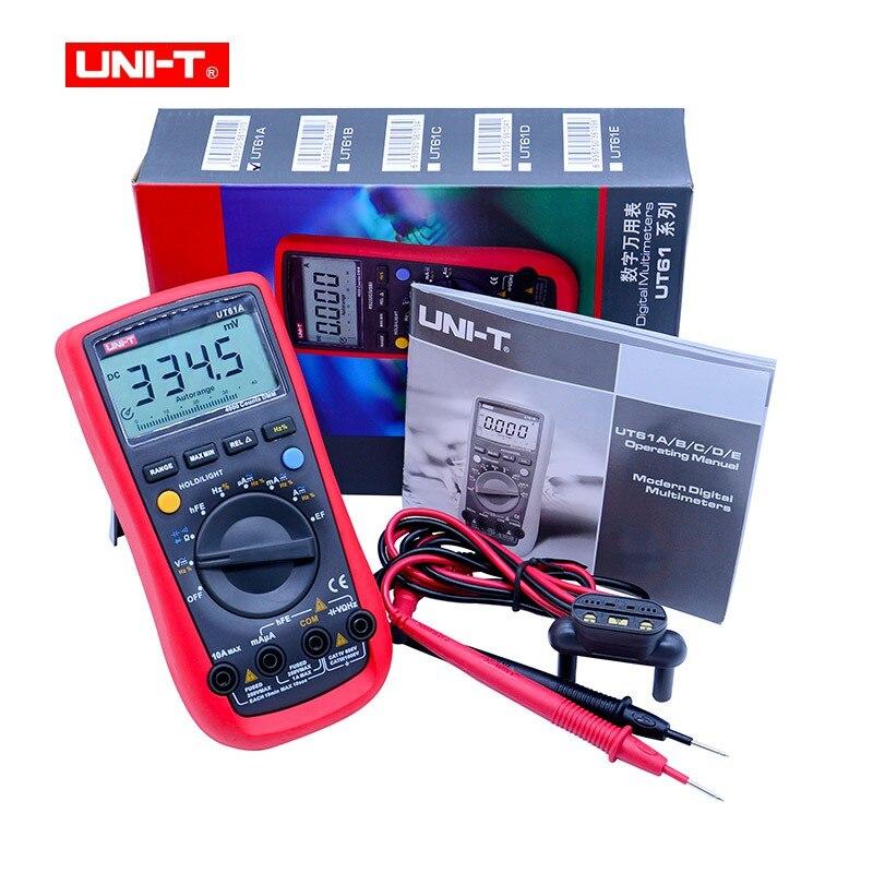 Multímetro Digital UNI-T UT61A alta fiabilidad profesional eléctrico Handheld Tester CD retroiluminación y datos Multitester