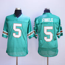 BONJEAN Cheap Throwback American Football Jerseys 5 Ray Finkle Ace Ventura  Movie Miami Football Jersey Teal 63bdde6c5