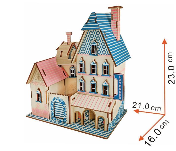Синий Shores Модель детей игрушки 3D головоломки деревянные игрушки деревянные головоломки Развивающие игрушки для детей Diy ручной работы дере...