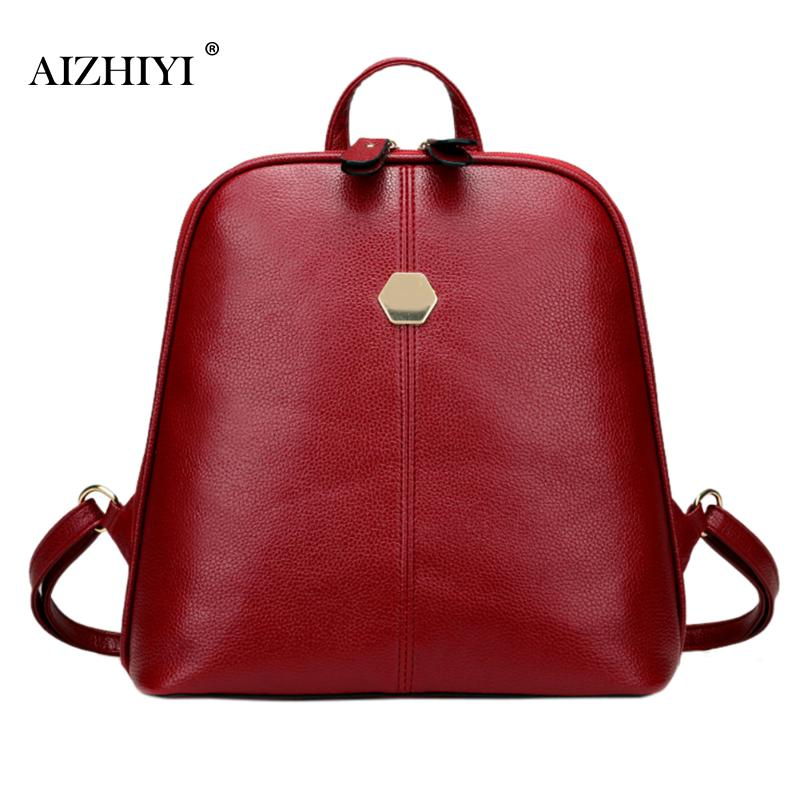 AIZHIYI Backpack Women Fashion Leather Backpack School Bags for Girls Women Backpack Mochila Feminina School Bags for Teenagers