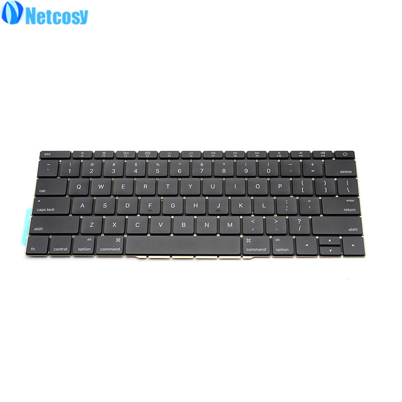 Netcosy For Macbook Pro Retina 13 A1706 2016 New Replacement keyboard US standard keyboard For Macbook A1706 2016 Laptop new laptop a1706 keyboard italian eu for macbook pro 13 3 retina a1706 italian italy ita keyboard uero 2016 2017 year