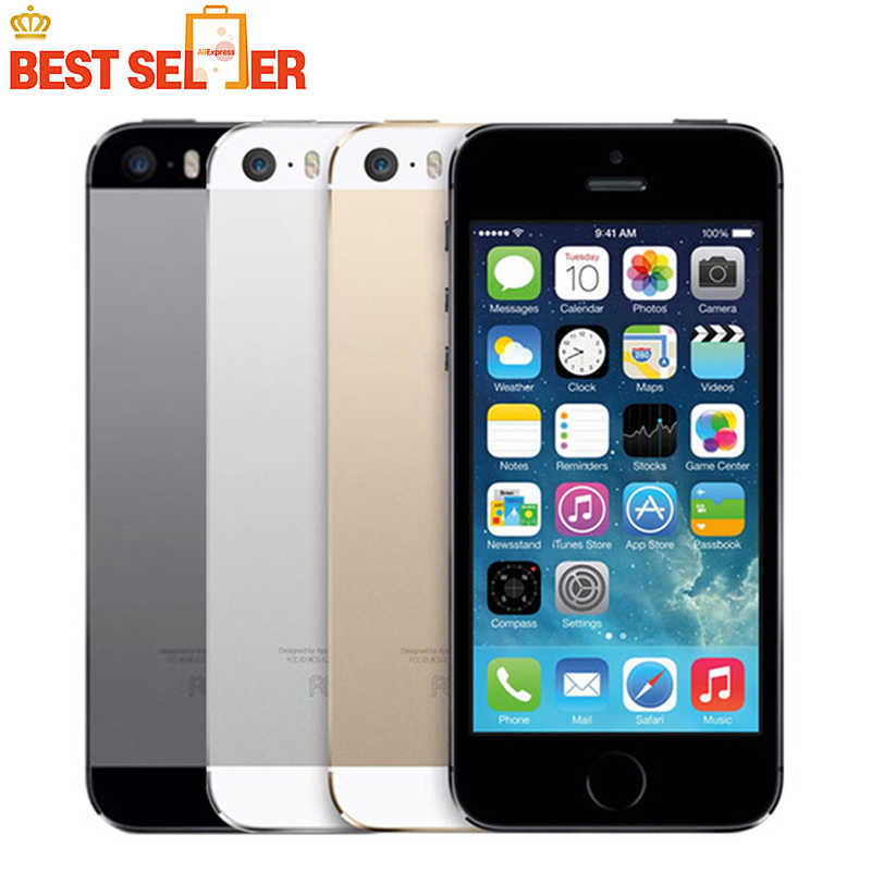 Original Entsperrt Apple iPhone 5 s, 4G LTE Handys, 4,0 zoll, 16 GB/32 GB/64 GB ROM, IOS GPS Touch ID iCloud Smartphones