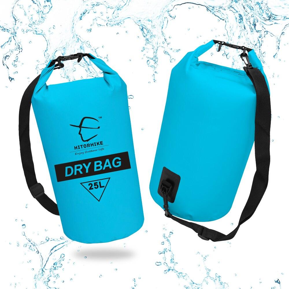 Hitorhike Ultralight Zwemmen Tas Droog 4 Colors Outdoor Nylon Kajakken Opslag Drifting Waterdichte Rafting Bag 25L New Arrivals
