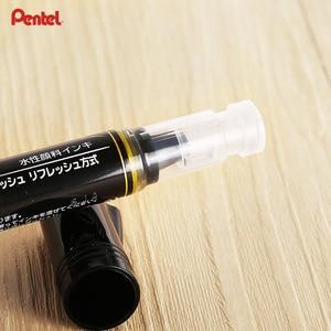 Image 3 - Pentel XGFH X Metal renk altın fırça kalem yumuşak kafa kalem yazma İmza düğün imza