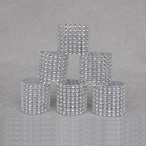 Cheap 50Pcs/Lot Plastic diamond package napkin ring napkin