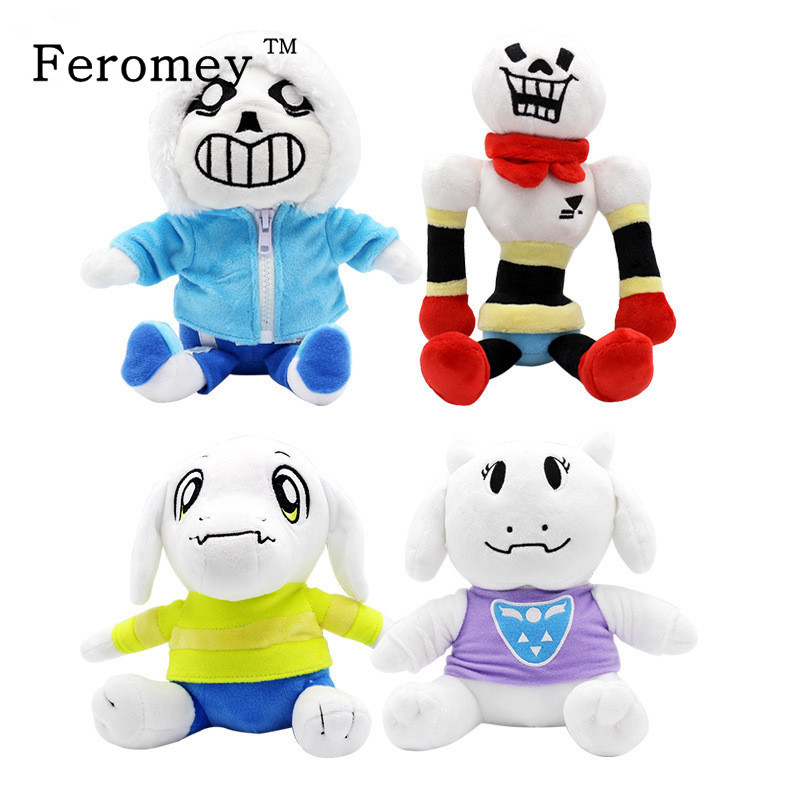 Kawaii Undertale Plush Doll Toys Cute Undertale Sans Papyrus Asriel Toriel Anime Plush Toys Children Kids Toy Birthday Gift