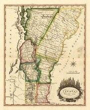 Online Get Cheap Vermont Map Aliexpresscom Alibaba Group - Vermont map usa