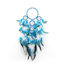Indian original style dream catcher car feather ornaments creative gift birthday gift home decor wedding decoration wind chimes indian six ring large dream catcher wind bell feather pendant home ornaments birthday gift shop dream bestie lover gift
