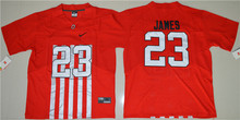Nike Men's Ohio State Buckeyes Lebron James 23 College Alternate Elite Jersey Ice Hockey Jerseys - Red Size M,L,XL,XL,2XL,3XL(China)