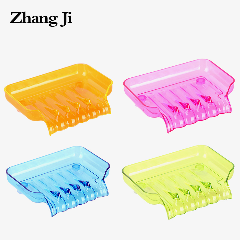 Concise colorful waterfall soap dish plastic bathroom for Colorful bathroom accessories