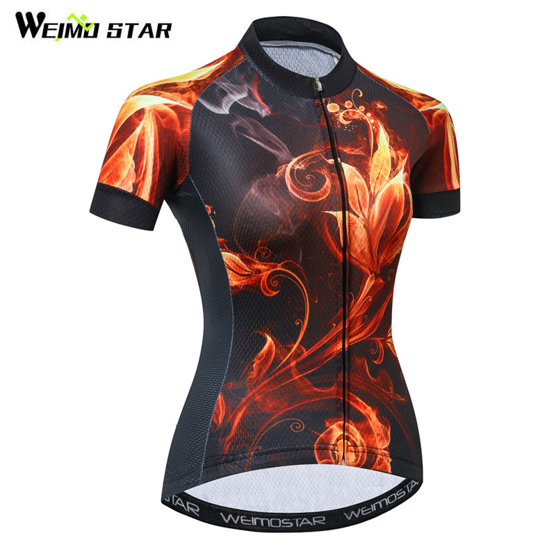 Weimostar Quick Dry Cycling Jersey Top Women Mountain Bike Jersey Shirt  Summer Short Sleeve Cycling Clothing mtb Bicycle Clothes 0d9b69042