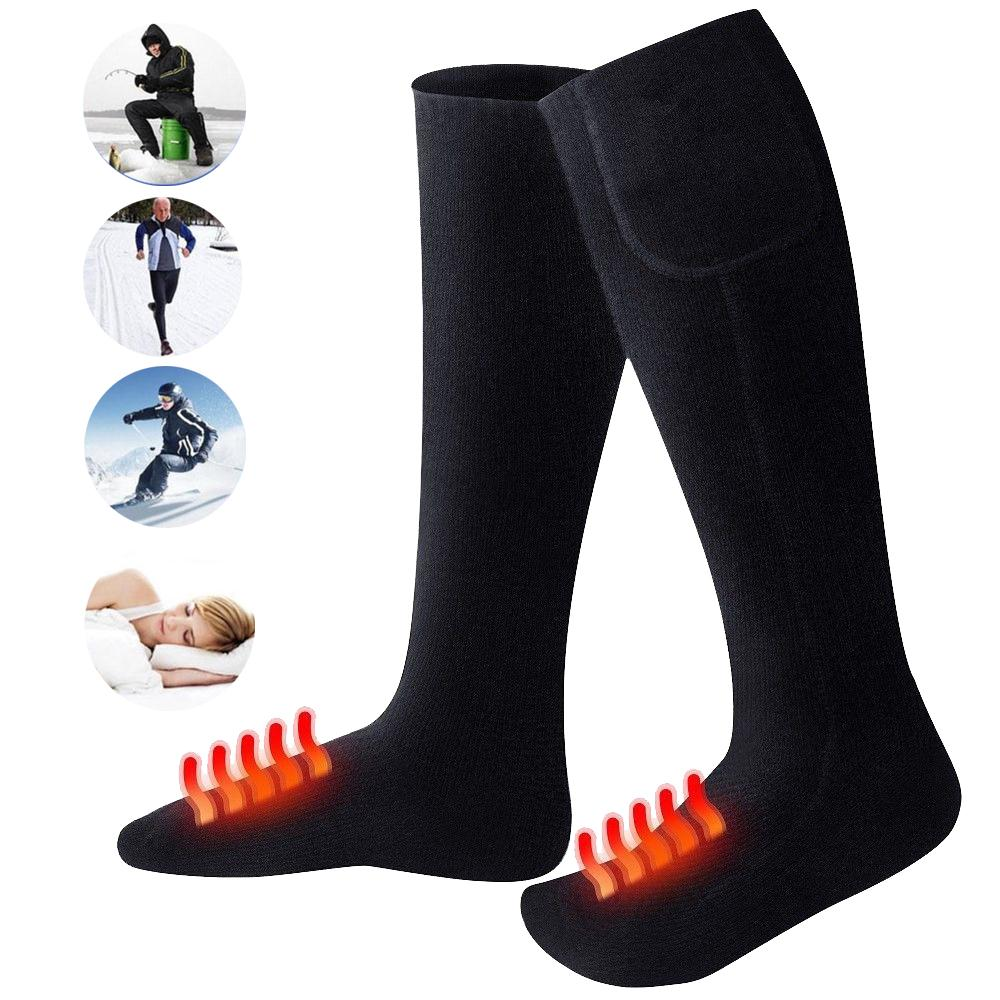 Relefree Cotton Heated Ski Socks 1000mA Non-toxic Feet Warmer Heater Safety Warming Protective Gear For Skiing Winter Sports