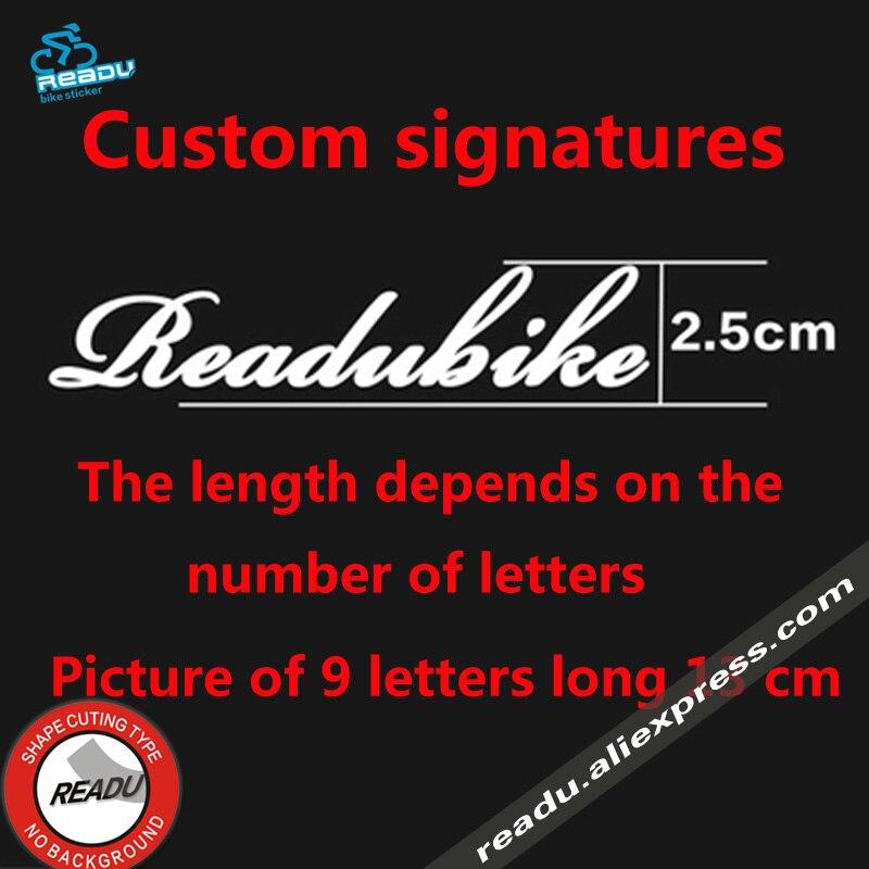 Benutzerdefinierte signaturen Fahrrad englisch unterschrift ...