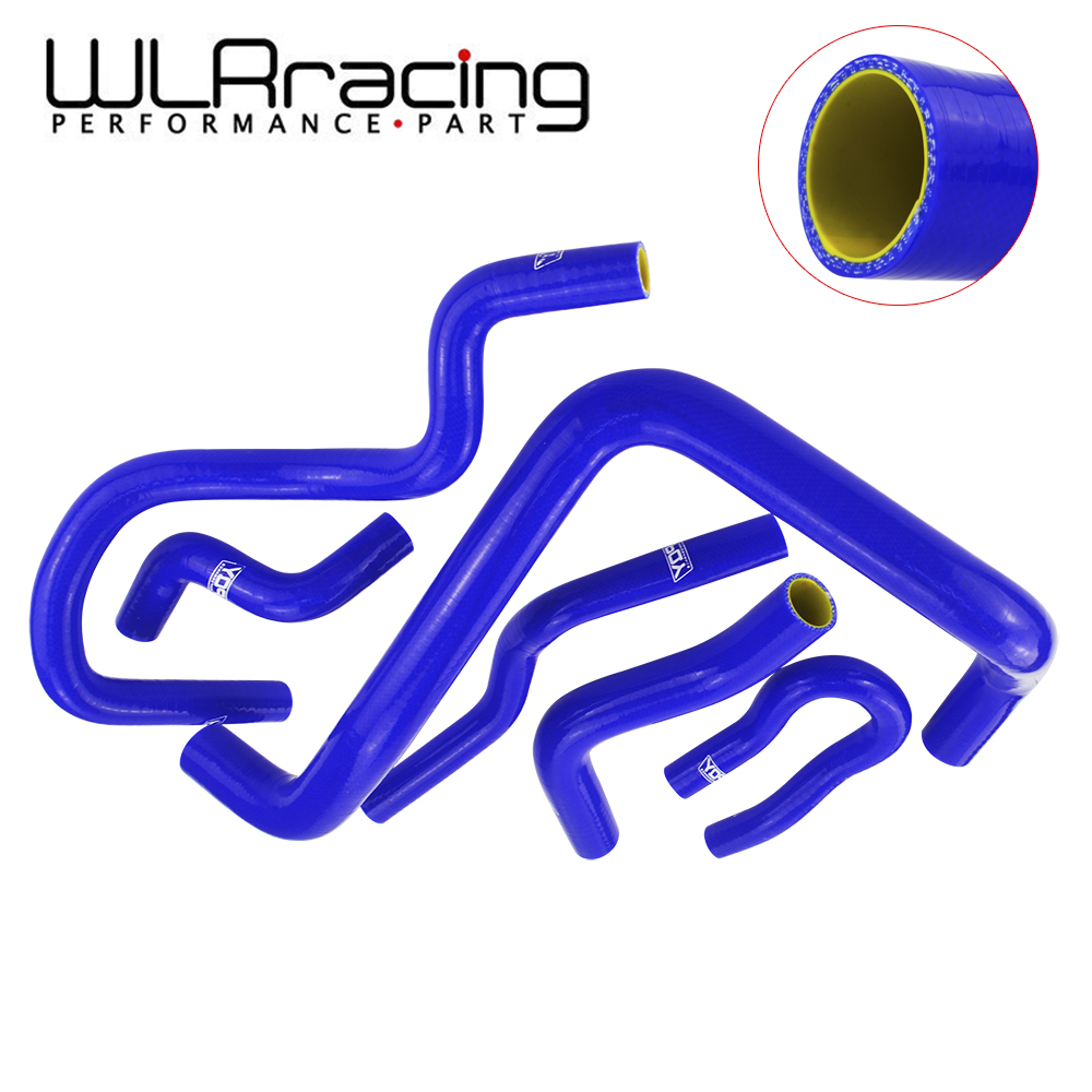WLR RACING -Blue & Yellow  Silicone Radiator Hose Kit For HONDA CIVIC SOHC D15 D16 EG EK 92-00 6pcs With PQY Logo WLR-LX1303C-QY