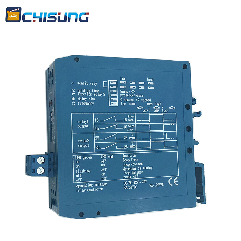 Chisung M1H Model Single Channel Loop Detector For Gate Parking Lightning Protection Vehicle Detection Sensor