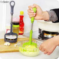 1 piezas patata nueva herramienta de prensa Potato Masher de la patata dulce púrpura máquina de presión Crusher exprimidor Cozinha amassador de batata