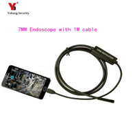 Mini Usb Android OTG Inspection Endoscope Camera Snake Borescope Camera With 7mm Lens 6LED Lights Hook