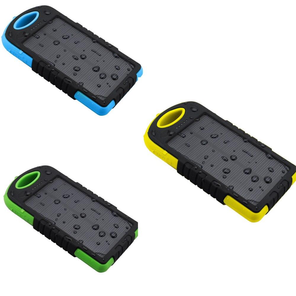 imágenes para Bluleki Solar Banco de la Energía Dual USB Powerbank 8000 mAh Batería Externa del Cargador de Batería Externa Portátil para todos los teléfonos móviles