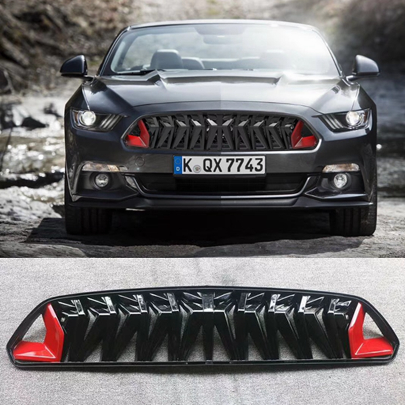 ABS Car Front Bumper Mesh Grille Grills For Ford Mustang 2015 2016 2017 Car Styling body kits front bumper parts rear diffuser car accessories for ford mustang coupe 2015 2017