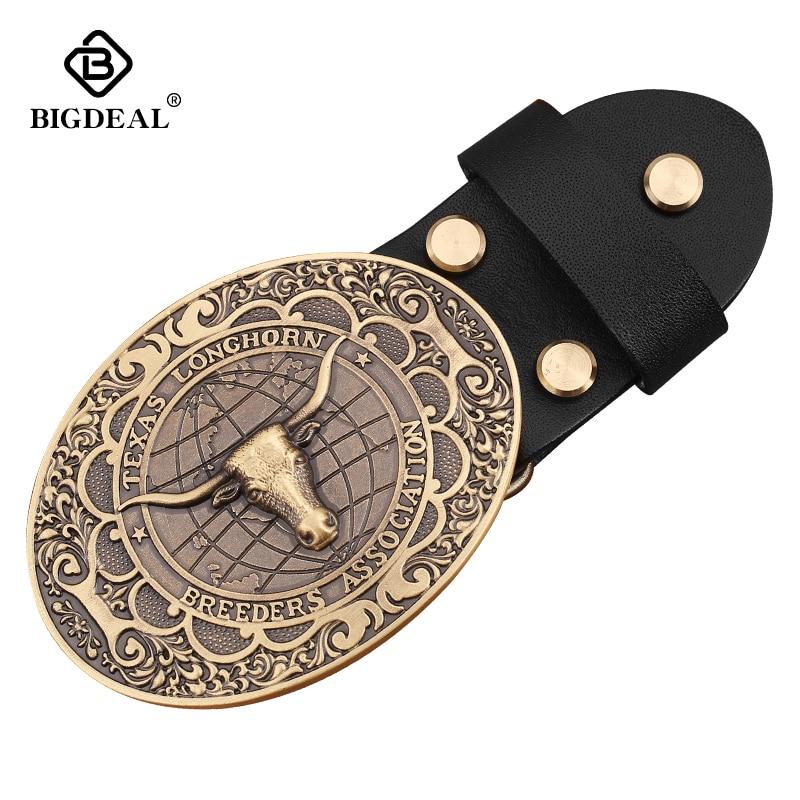 Brand Fashion Casual Belt Buckle Metal Western Cowboy Belt Buckle WIth Belt Holiday Gifts Hebillas Para Cinturones