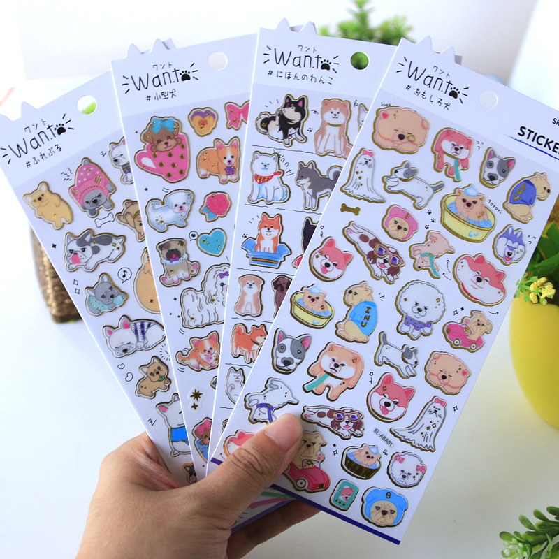DIY Colorful Kawaii Bronzing Animal Stickers Diary Planner Journal Note Diary Paper Scrapbooking Albums PhotoTag