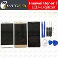 Display lcd + touch screen 100% novo acessórios de substituição do conjunto digitador para huawei honor 7 5.2 polegadas fhd telefone móvel