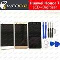 Para huawei honor 7 display lcd + de tela de toque 100% nova substituição digitador assembléia 5.2 polegada fhd acessórios do telefone móvel