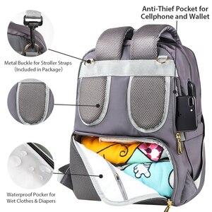 Image 5 - TYRY. HU mumya doğum çantası büyük kapasiteli bebek bezi çantaları popüler Nappy çantaları sırt çantaları anneler