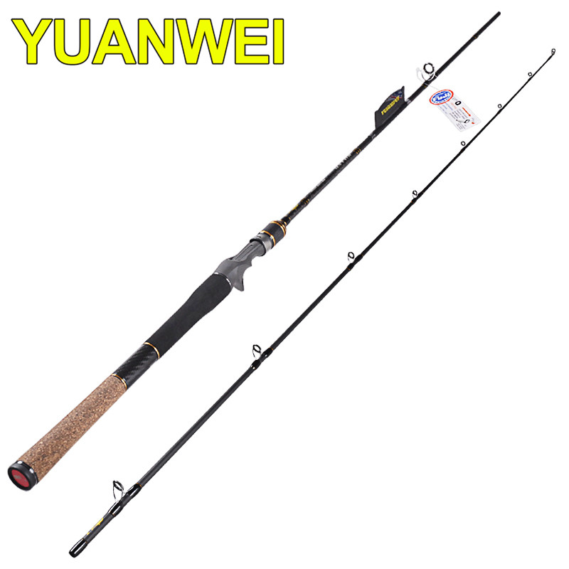YUWEI 2.1m Casting Fishing Rod 2Section Carbon Lure Rods 6-24g Lure Weight Vara De Pescar Canne A Peche Carp Olta Fish Tackle fish hunter 2 44m best quality 2 sections casting lure rod high carbon china made fishing rods fishing tackle