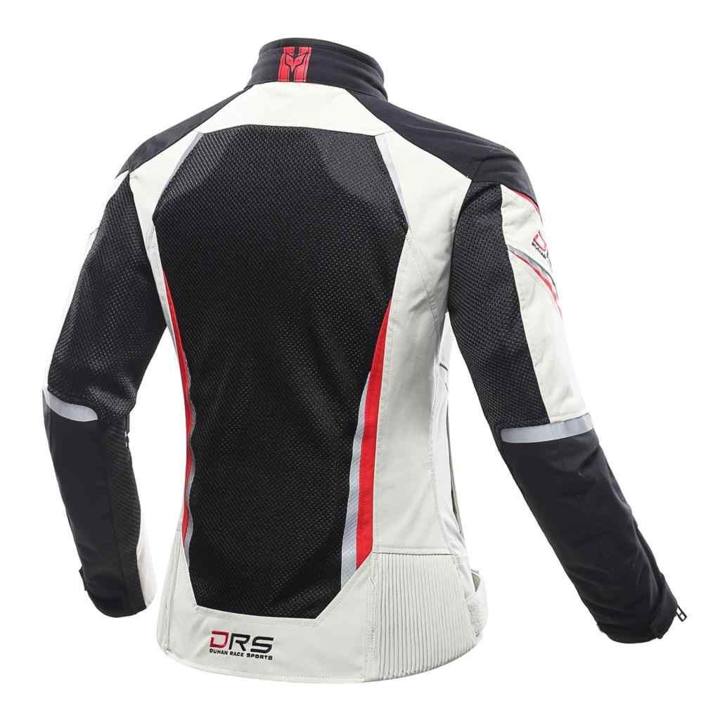 DUHAN kurtki motocyklowe spodnie motocyklowe zestaw oddychająca siatka kurtka na motor Moto spodnie pancerz kombinezon do jazdy odzież dla kobiet