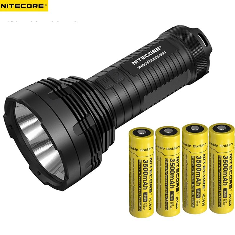 High Lumen Flashlight NITECORE TM16GT 4*CREE XP-L HI V3 LEDs 3600 lumens throw distance 1003 meters waterproof outdoor torch