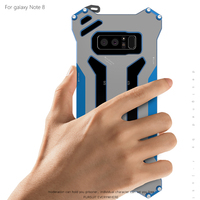 R JUST Gundam Metal Case For Samsung Galaxy Note 8 Case Cover For Samsung Note 8