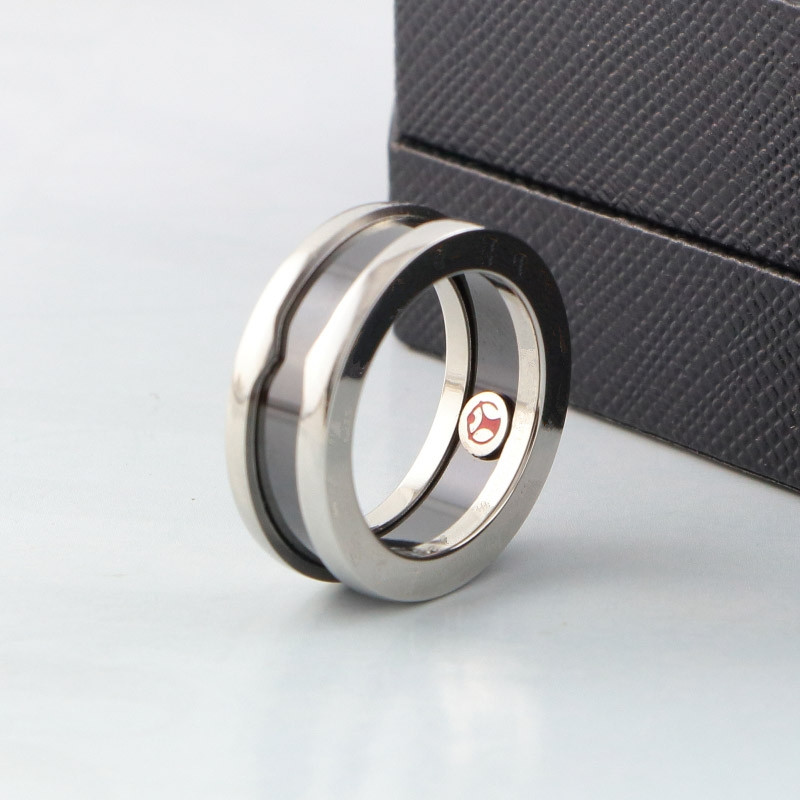 Classic fashion sell Charity little red ring titanium steel bulgaria love ring ceramic couple for women and men wholesale equte coo18c4s69 titanium steel cross love couple s ring black golden silver women 6 men 9