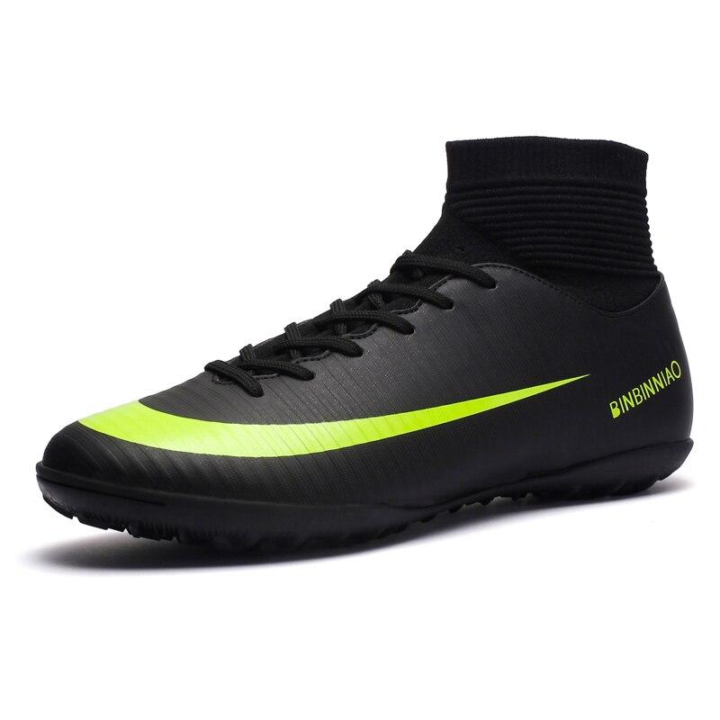 meilleure sélection 345f1 9fa7e € 22.72 29% de réduction|Chaussures de Football pour enfants crampons  bottes de Football pour homme chaussure professionnelle Futsal Original  Futsal ...