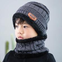 Новая осенняя и зимняя детская вязаная шапка, нагрудник из двух предметов, зимняя кашемировая шапка, шерстяная шапка с защитой ушей для родителей и детей