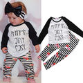 Autumn Spring Kids Baby Toddler Girls Clothes Set T-shirt Tops Pants Leggings Outfits Children Clothing