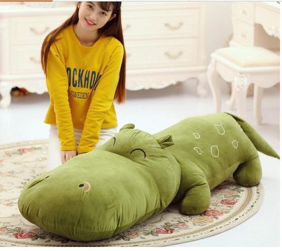 ФОТО huge  lovely hippo toy plush doll cartoon hippo doll gift toy about 140cm green