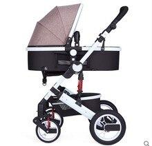 Oley poussette haute paysage peut s'asseoir ou de s'allonger choc hiver enfants bébé poussette double sens pont chariot livraison gratuite
