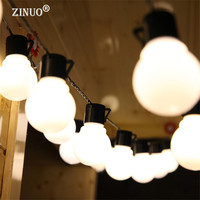 Novelty 5M 20pcs 5CM Big Ball Led String Light Black Wire Outdoor Christmas Garland Fairy String