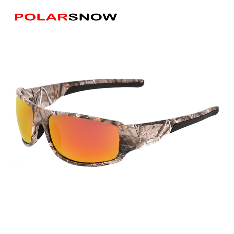 POLARSNOW 2018 Brand Polarized Sunglasses Camouflage Frame Sport Sun Glasses Fishing Eyeglasses Oculos De Sol Masculino