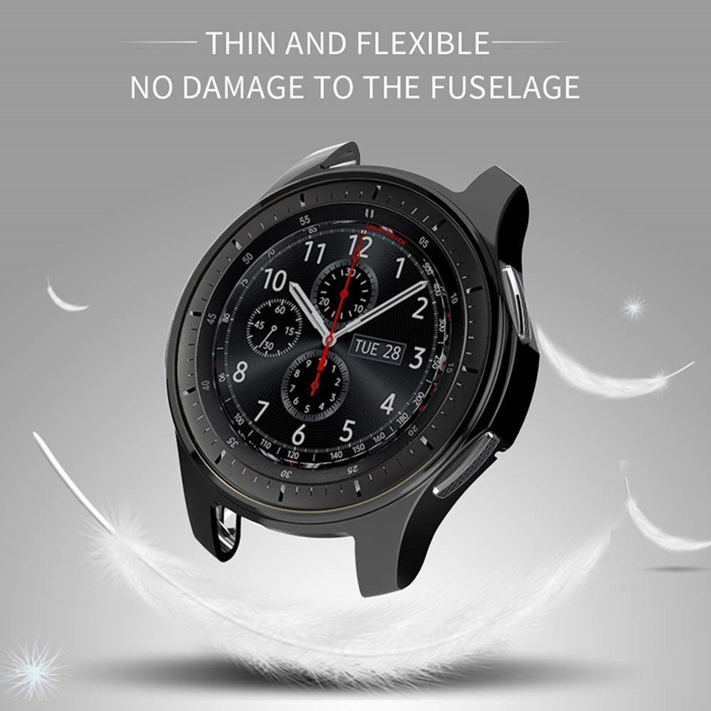 EIMO Protective Watch Case for samsung Gear S3 frontier/Galaxy watch 46mm band Replacement TPU All-Around shell cover Smartwatch protective tpu back case for samsung galaxy s3 i9300 black