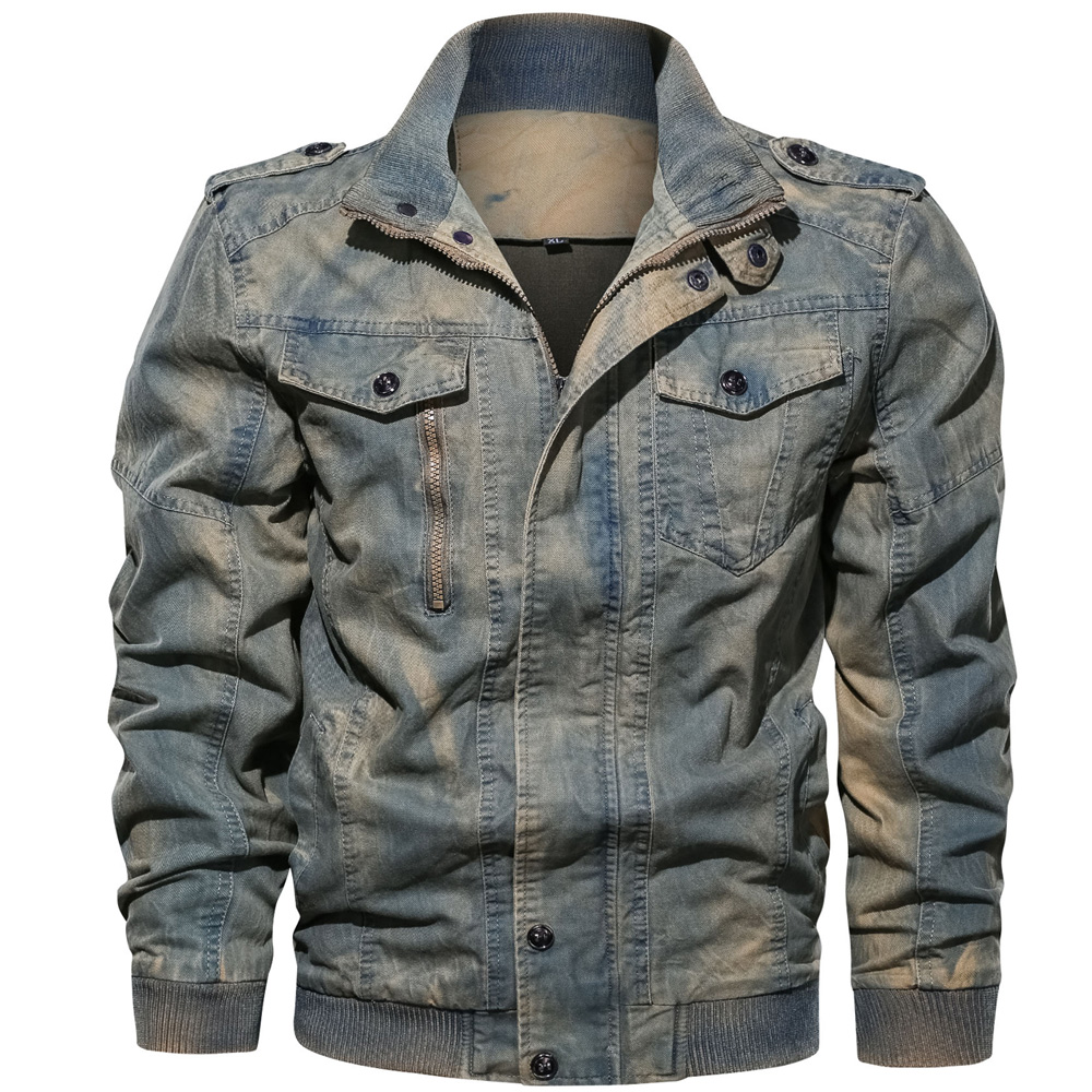 HTB18YogMXzqK1RjSZFvq6AB7VXaa Mens Denim Jacket Big Size 6XL Military Tactical Jeans jacket Solid Casual Air Force Pilot Coat Casaco Masculino DropShipping