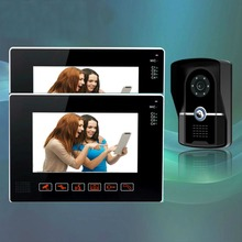 YobangSecurity 9″Video Audio Intercom Doorbell Video Door Phone Bell Access Control 1 Camera 2 Monitor for Home Security System