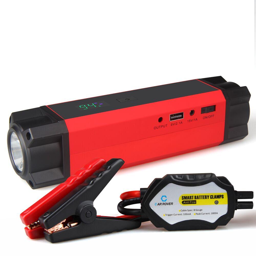 imágenes para Cargador de Batería de Arranque Salto portátil para Gasolina y Diesel de Vehículos con 54000mWh 1000A Corriente de Pico Multifunción Kit de Emergencia