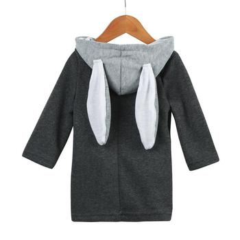 Fashion Cute Baby Solid Infant Autumn Winter Hood Regular Sleeve Coat Rabbit Jacket Thick Warm Clothes Dropshipping#Z30 одежда на маленьких мальчиков