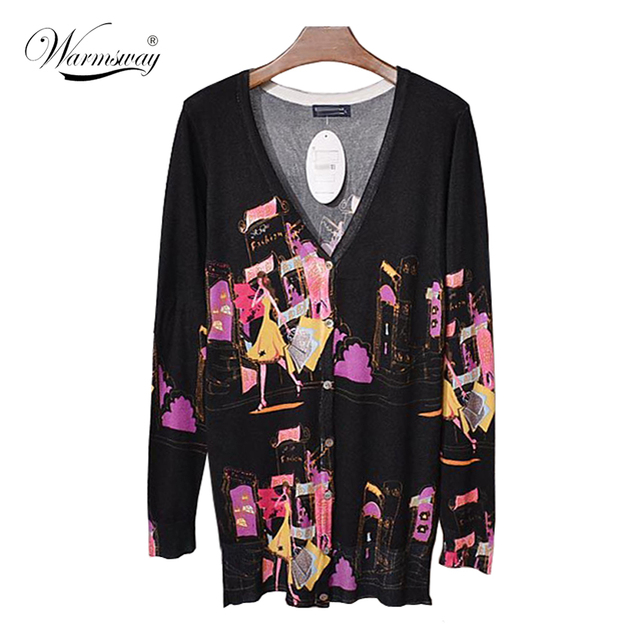 Women Sweater Long Cardigan 2017 Fashion Autumn Style Long Sleeve slim fitted Knitted Cardigan female Sweaters Long Coat WS-028