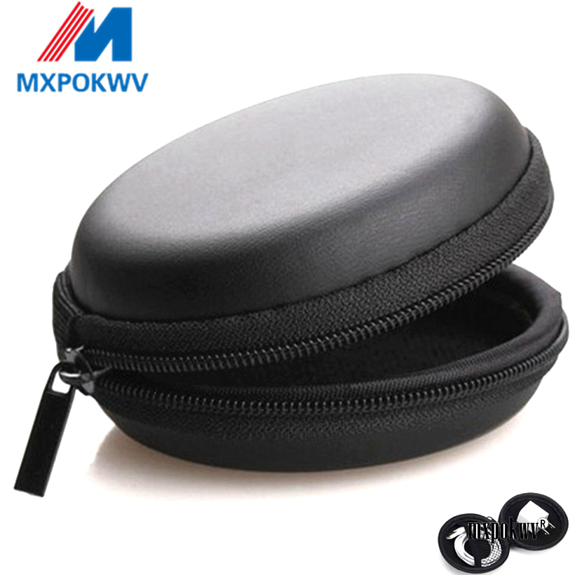 Earphone Storage Case PU Mini Carrying Hard Bag Box Case For Earphone Headphone Accessories Earbuds memory Card USB Cable-in Earphone Accessories from Consumer Electronics